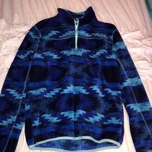 blue quarter zip
